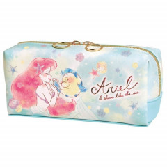 Japan Disney Twin Pen Case Pouch - Princess Ariel