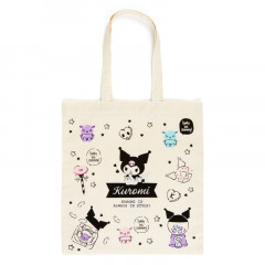 Japan Sanrio Cotton Shopping Bag - Kuromi