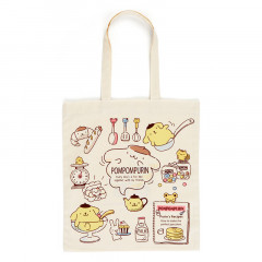 Japan Sanrio Cotton Shopping Bag - Pompompurin