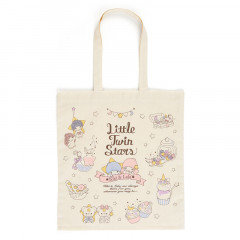 Japan Sanrio Cotton Shopping Bag - Little Twin Stars