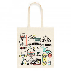 Japan Sanrio Cotton Shopping Bag - Pochacco