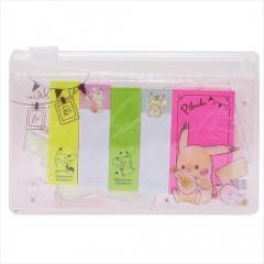 Japan Pokemon Sticky Notes & Folder Set - Pikachu
