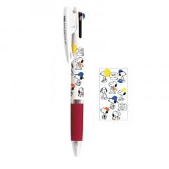 Japan Peanuts Jetstream 3 Color Multi Ball Pen - Snoopy