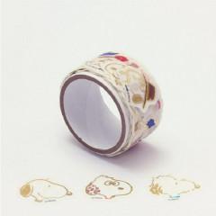 Japan Peanuts Peripetta Roll Sticker - Snoopy Gold Foil