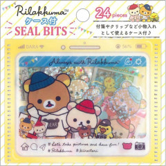 Japan San-X Rilakkuma Masking Seal Flake Sticker - Travel