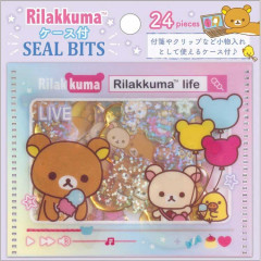 Japan San-X Rilakkuma Masking Seal Flake Sticker - Life