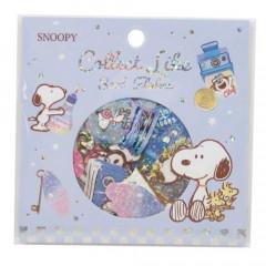 Japan Peanuts Flake Sticker - Snoopy Glitter Blue