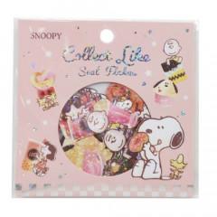 Japan Peanuts Flake Sticker - Snoopy Glitter Pink