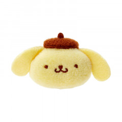 Japan Sanrio Mini Plush Hair Clip - Pompompurin