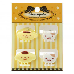 Japan Sanrio Mini Hair Clip - Pompompurin