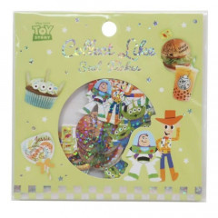 Japan Disney Masking Seal Flake Sticker - Toy Story Food