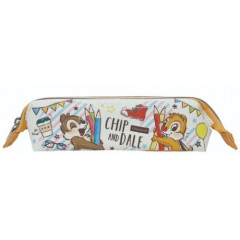 Japan Disney Pouch Pencil Case - Chip & Dale School Life