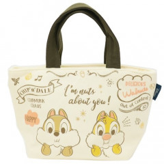 Japan Disney Canvas Mini Tote Bag - Chip & Dale Cafe