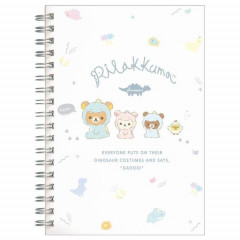 Japan San-X Rilakkuma B6 Notebook - Dinosaur White