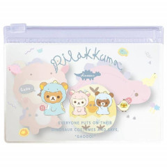 Japan Rillakkuma Sticky Notes with Case - Dinosaurs