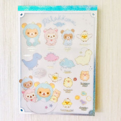 Japan Rilakkuma A6 Notepad - Dinosaurs White