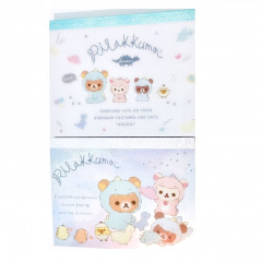 Japan San-X Rilakkuma B8 Mini Notepad - Dinosaur