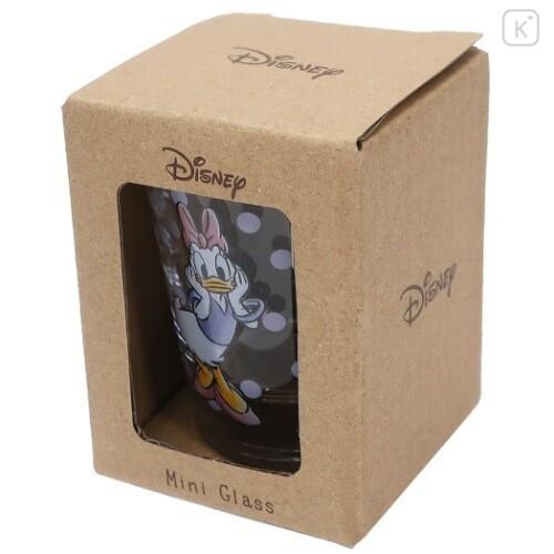 Japan Disney Mini Glass Cup - Daisy Duck - 5