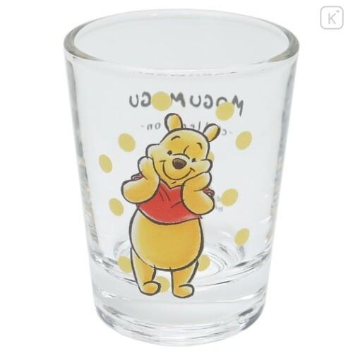 Japan Disney Mini Glass Cup - Winnie The Pooh - 1