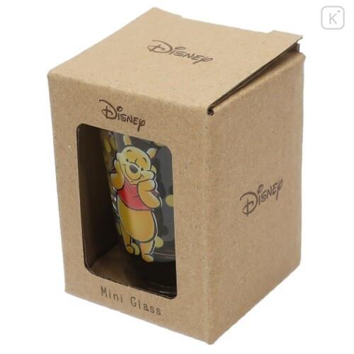 Japan Disney Mini Glass Cup - Winnie The Pooh - 5