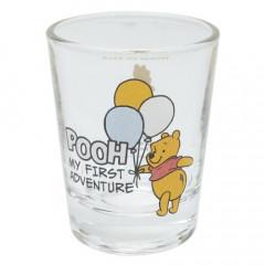 Japan Disney Mini Glass Cup - Winnie The Pooh & Balloon