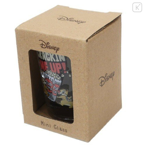 Japan Disney Mini Glass Cup - Chip & Dale - 5