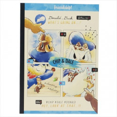 Japan Disney B5 Glue Blank Notebook - Donald Duck & Chip & Dale