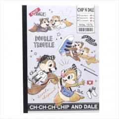 Japan Disney B5 Glue Blank Notebook - Chip & Dale
