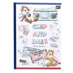 Japan Disney B5 Glue Blank Notebook - Chip & Dale Music