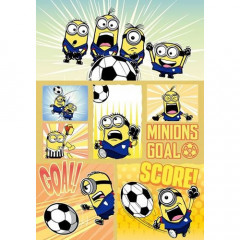 Japan Despicable Me A5 Glue Blank Notebook - Minions & Football