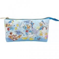 Japan Disney Pouch Makeup Bag Pencil Case - Donald Duck vs Chip & Dale
