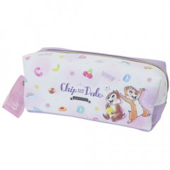 Japan Disney Pencil Case (M) - Chip & Dale Purple