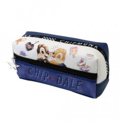 Japan Disney Pencil Case (M) - Chip & Dale Navy