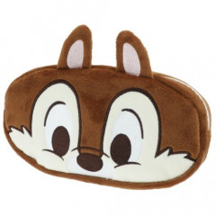 Japan Disney Fluffy Pencil Case (M) - Chip