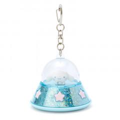 Japan Sanrio Acrylic Charm Key Chain - Cinnamoroll UFO