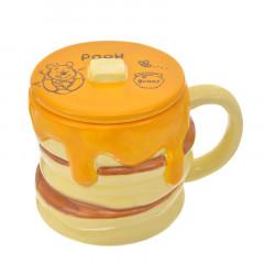 Japan Disney Die-cut Face Mug - Winnie The Pooh & Pancaka