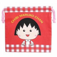 Japan Drawstring Bag - Chibi Maruko-chan Red