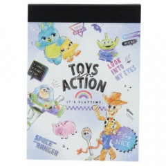Japan Disney B8 Mini Notepad - Toy Story 4 Actions