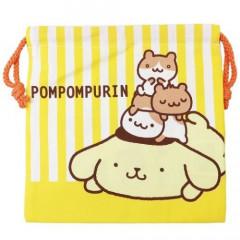 Sanrio Drawstring Bag - Pompompurin Stripe