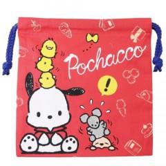 Sanrio Drawstring Bag - Pochacco Red