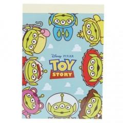 Japan Disney Mini Notepad - Toy Story Alien Little Green Men Cosplay