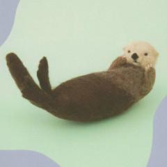 Japan Hamanaka Wool Needle Felting Kit - Sea Otter