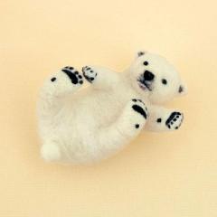Japan Hamanaka Wool Needle Felting Kit - Polar Bear Baby