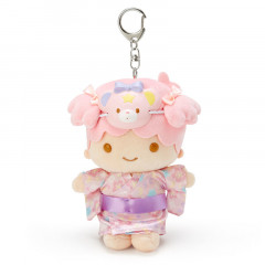 Japan Sanrio Charm Key Chain Plush - Little Twin Stars Kimono