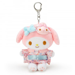 Japan Sanrio Charm Key Chain Plush - My Melody Kimono