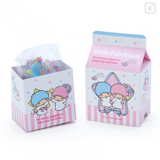 Japan Sanrio Sticker with Milk Pack Case - Little Twin Stars - 3