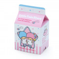 Japan Sanrio Sticker with Milk Pack Case - Little Twin Stars - 5