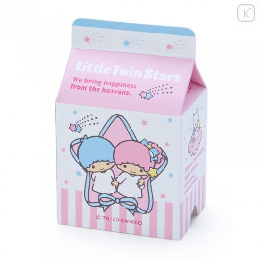 Japan Sanrio Sticker with Milk Pack Case - Little Twin Stars - 6