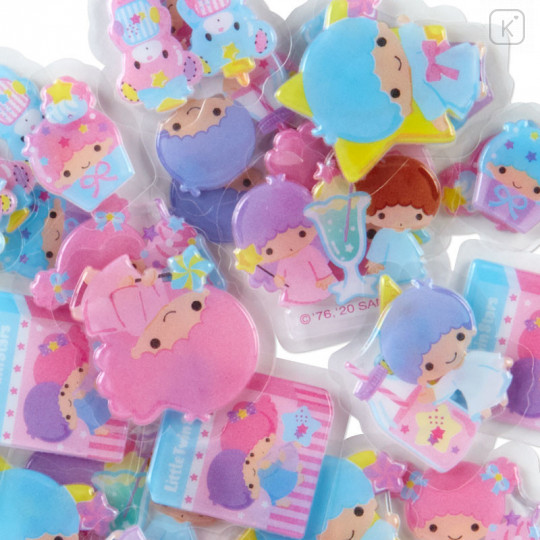 Japan Sanrio Sticker with Milk Pack Case - Little Twin Stars - 8