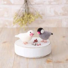 Japan Hamanaka Aclaine Needle Felting Kit - Cherry Blossom and Swan Bird
